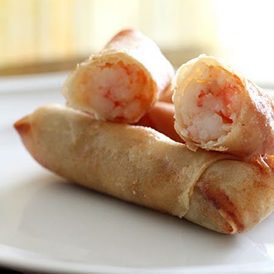 Spring rolls with shrimp and pork