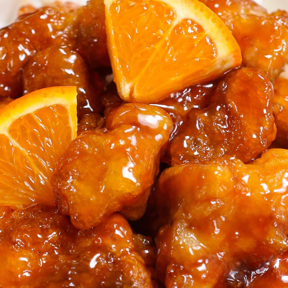 Special combination entrees w/ orange chicken